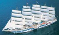 The Royal Clipper Tall Ship sailing cruise